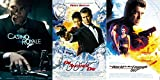 James Bond Film Collection 20/21/22 The World Is Not Enough - Die Another Day & Casino Royale 007 Blu Ray three films Action Movie Set
