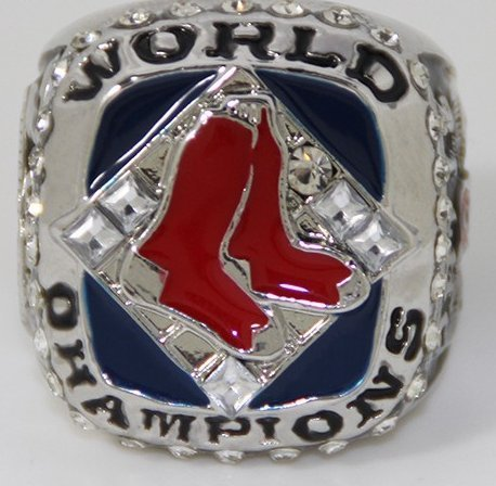 Boston Red Sox 2007 World Series Ring - David Ortiz Replica - Size 11 Mens Shipped from - World Series Rings Red Boston Sox