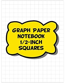 graph paper notebook 1 2 inch squares 120 pages funny math