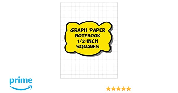 graph paper notebook 1 2 inch squares 2 squares per inch grid