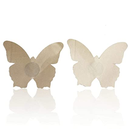 Amazon.com: MVNTOO Enjoying 5pair Butterfly Adhesive Nipple Covers Pads Body Breasts Stickers Milk Paste Anti Emptied Chest Invisible Intimates Bra Flesh ...