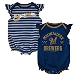 MLB  Milwaukee Brewers Infant Girls 2Pk Creeper-18 Months