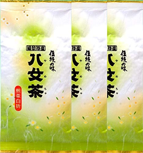 岩﨑園製茶 新茶 2020年産 福岡県産 八女茶 白折 ( 梅 ) 100g × 3袋 セット くき茶