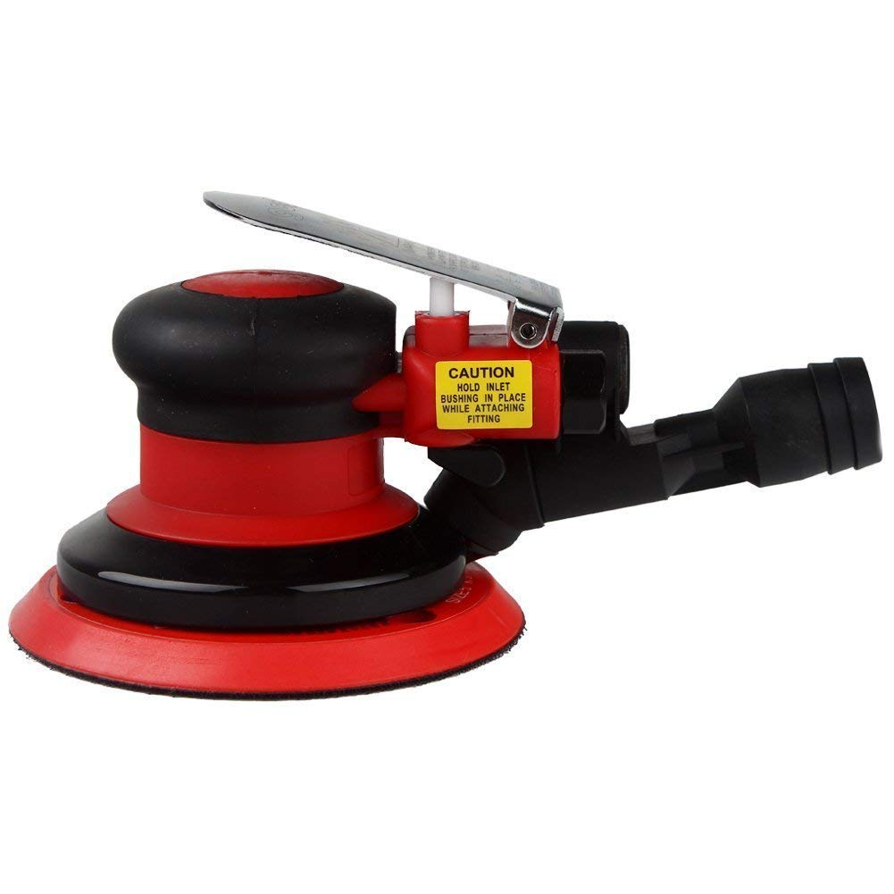 Vacuum Random Orbital Sander with 3/16'' Orbital Pattern 5'' Aluminum Sander Quiet Efficiently