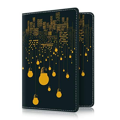 Fintie Passport Holder Travel Wallet RFID Blocking PU Leather Card Case Cover, All Nighter
