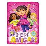 Dora and Friends,''Girl Magic'' Micro Raschel Throw Blanket, 46'' x 60''