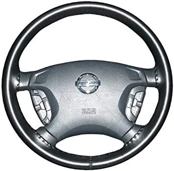 Amazon Com Wheelskins Genuine Leather Black Steering Wheel Cover