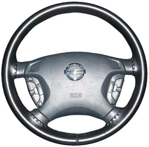 Wheelskins Chevy Genuine Leather Black Steering Wheel Cover-Size AXX