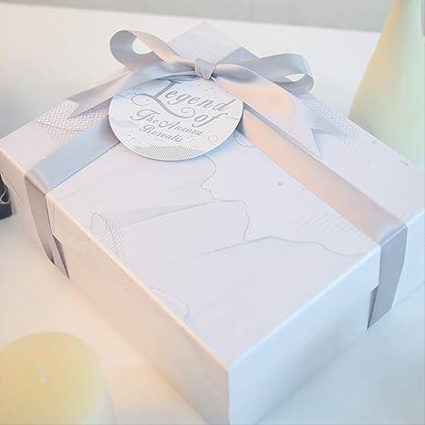 Caja de regalo Día de San Valentín Lápiz labial grande Caja simple delicada con regalo de mano Caja vacía Rectángulo de moda Hermoso y elegante 167 * 167 * 78Mm C: Amazon.es: