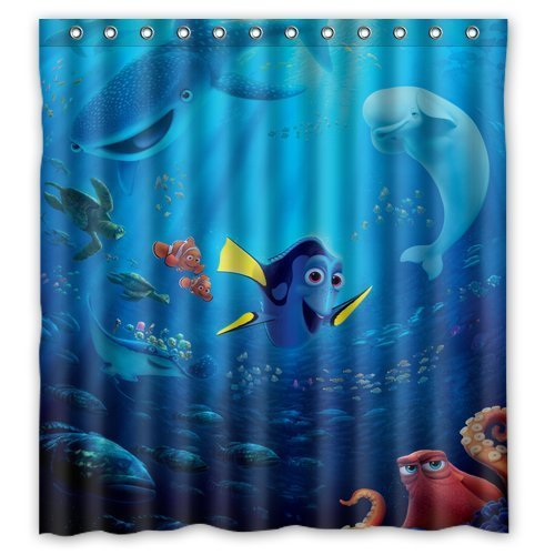 Finding Nemo Dory Shark Custom Unique Waterproof Shower Curtain Bathroom Curtains 66x72