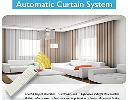 Amazon Electric Remote Controlled Drapery System W 8 Track