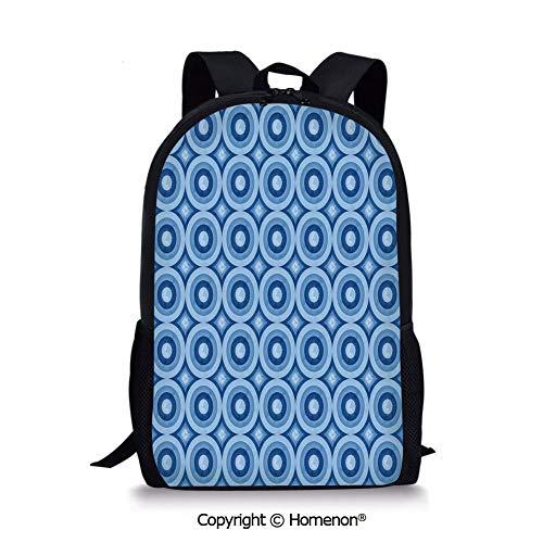 Blue Light Blue,design Girls School Backpack Back to School(17.3