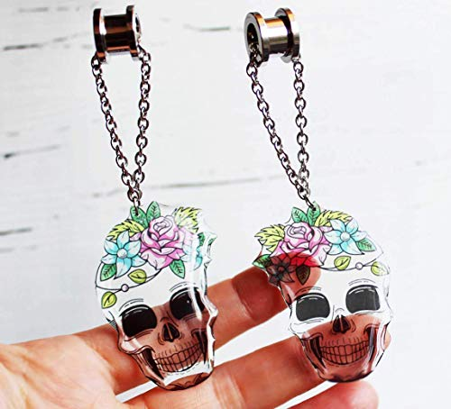 ear tunnels and plugs skull earrings dangle plugs dangle gauges dangles for earrings piercing