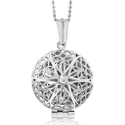 Open Filigree Heart Locket - 6