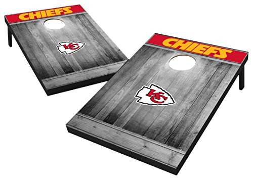 Wild Sports 2'x3' MDF Wood NFL Kansas City Chiefs Cornhole Set - Grey Wood Design