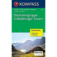 Dachsteingruppe - Schladminger Tauern: Wanderkarten-Set mit Panorama, Radrouten und Skitouren. GPS-genau. 1:25000: 3-delige Wandelkaart 1:25 000 (KOMPASS-Wanderkarten, Band 293)