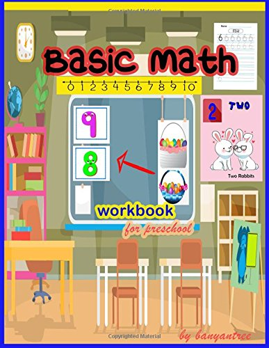 Read Online Basic Math workbook for preschool: Toddlers , Young kids workbook , Number counting , match and write , draw a line, tracing 0-9 (Basic math for kids) (Volume 1) ebook