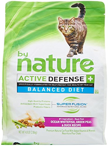 By Nature Active Defense Balanced Diet Cat Food - Ocean Whitefish, Green Peas And Duck - 4.8 Lb