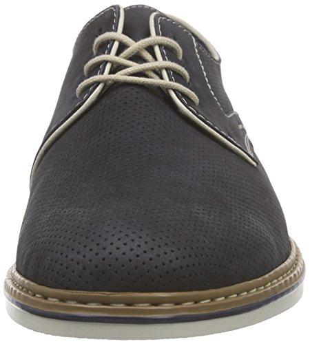 Rieker Womens Hamble Mens Blue Leather Casual Shoes Ocean / Chalk