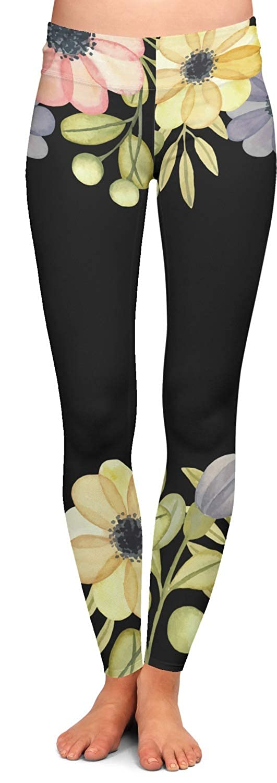 Personalized Boho Floral Ladies Leggings