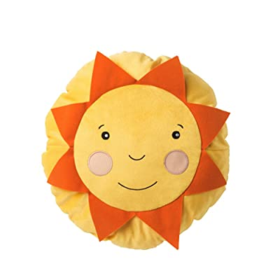 SOLIGT Cushion Pillow Yellow Orange Smiling Sunshine Accent Kids Children Toy Throw-Diameter: 16 inch: Toys & Games