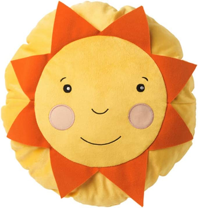 Snuggle Stuffs Hello Sunshine 13 Yellow Plush Throw Pillow