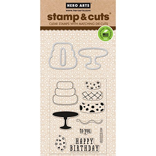 Hero Arts Stamp and Cut Birthday Stamp with Matching Die Cut Set by Hero Arts