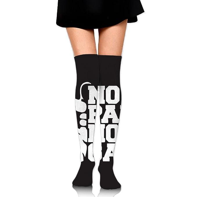 9fda77d6c Zaqxsw Crazy No Pain No Gain Womens Socks Long Running Socks Thigh High  Stockings