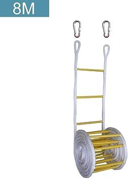 Wateralone Escalera De Rescate,Escaleras Plegables, Escalera De Incendios, Nylon Escalera De Cuerda Suave Escalera De Seguridad con Seguridad De Altura, Ventanas Y Balcón, con 2 Ganchos, 15 M: Amazon.es: Deportes y aire