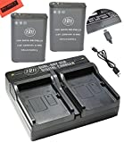 BM Premium 2 Pack of EN-EL23 Batteries and USB Dual Battery Charger for Nikon Coolpix B700, P900, P600, P610, S810c Digital Camera
