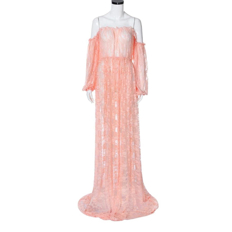 Kleider Damen Dasongff Schwangere Kleid Reizvoller Schulterfrei ...