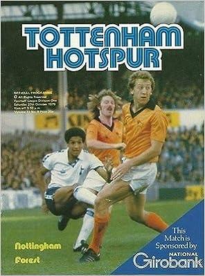 Tottenham Hotspur Nottingham Forest 27/10/79 WHITE Hart football programme (GR1)