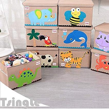 TsingLe - Caja de Almacenamiento para Juguetes con Tapa ...