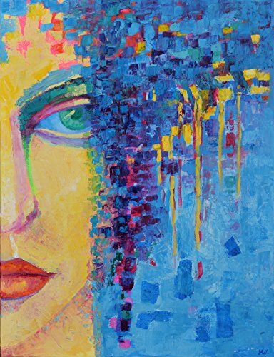 (Woman Painting CANVAS 20x26 Woman portrait on canvas Fine art work Original Hand Painted Genuine Decorative Figure Oil)