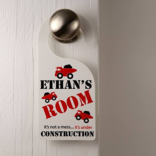 Personalised Boys Door Hanger Under Construction Any Name Personalized Bedroom