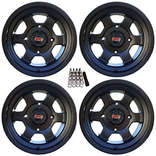 GMZ Casino UTV Wheels Black 14x8/14x10 Polaris RZR 1000 XP / Ranger XP (Wheels Rims Casino)