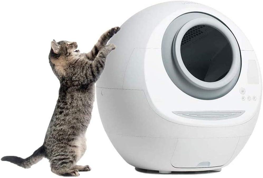 Sistema De Autolimpieza Caja De Arena, Gato WC Easy Clean Bandeja De Filtro Impermeable Cápsula Espacial Prueba De Salpicaduras Y Desodorante para Gatos Mascotas: Amazon.es: Hogar