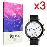 For Marc Jacobs Riley Hybrid Screen Protector, Lamshaw 9H Tempered Glass Screen Protector for Marc Jacobs Riley Hybrid Smartwatch (3 pack)
