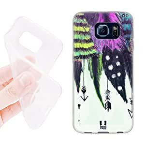 Caitlin J. Ritchie's Shop Lovers Gifts Head Case Designs Romantic Arrows Love Feathers Soft Gel Back Case Cover for Samsung Galaxy S6 G920, Galaxy S6 Duos 4939895M36310353