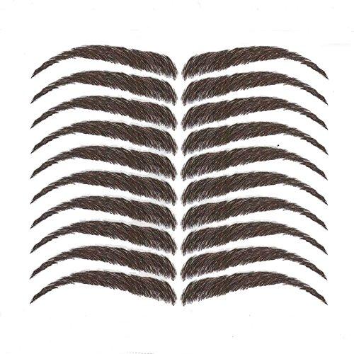 Eyebrow Tattoos #20 - Full Eyebrows #20 Dark Brown (Fake Wigs)