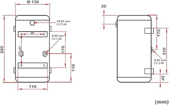 Airbrush Kompressor AS189 Drucktank 3 L Druckbehälter Ersatzteil