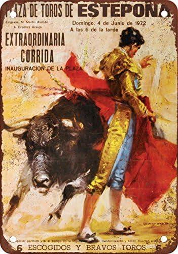 1972 Cartel de Metal con diseño de toros en España de Aspecto Vintage, 30,5 x 45,7 cm: Amazon.es: Hogar