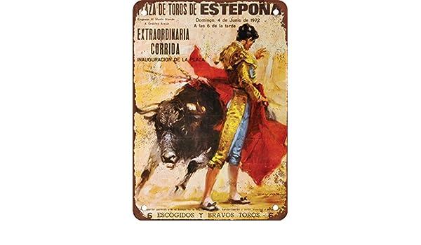 1972 Cartel de Metal con diseño de toros en España de ...