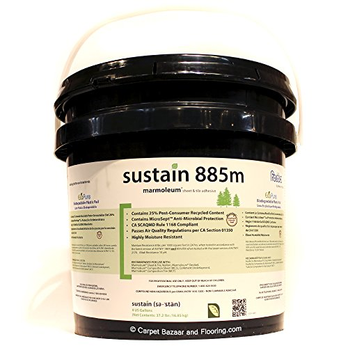 Forbo Marmoleum Sustain 885M Marmoleum Sheet and Tile Adhesive (4 GALLONS PAIL covers approx. 500 sq.ft.)