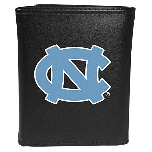 Siskiyou Sports NCAA North Carolina Tar Heels Tri-fold Wallet Large Logo, Black