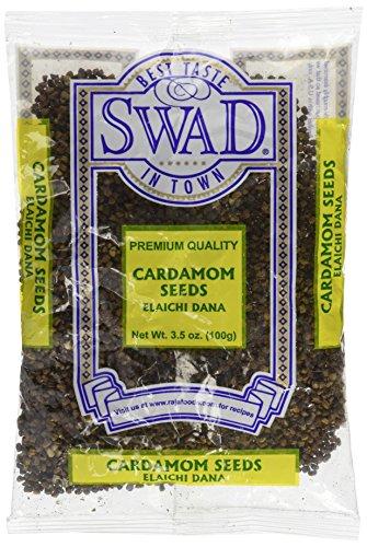 Swad Premium Quality Cardamom Seeds Decorticated (Elaichi Dana) / 100g., - Green Pods Cardamom