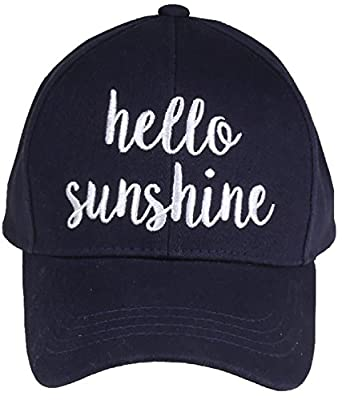Funky Junque Women's Baseball Bold Cursive Embroidered Sayings Adjustable Hat