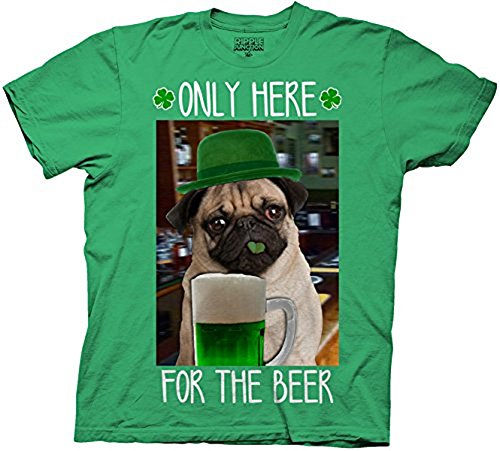 St. Paddy's Day Beer Pug Adult Sized T-shirt