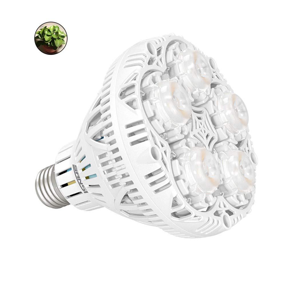 SANSI 24W LED Plant Light Bulb Full Spectrum LED Grow Light Plant Lights for Indoor Plants, E26 Grow Light Bulb for Hydroponics Greenhouse Houseplants Vegetable Tobacco, Sunlight White UV IR