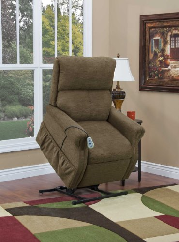 (1100 Series Three-Way Reclining Lift Chair - Cabo Color: Godiva)